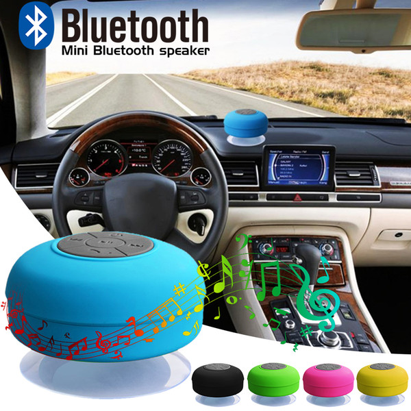 in stock Waterproof Wireless Bluetooth Speaker Mini Subwoofer Shower speakers Car Handsfree Receive Call Music Suction Mic For smartphones