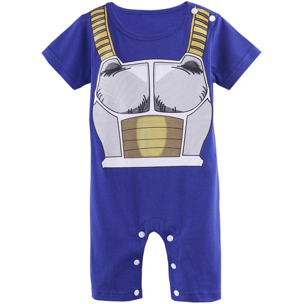 best selling Baby Boys Dragon Ball Z Funny Costume Vegeta Cute Romper Short Sleeve Infant Casual Playsuits Party DBZ Halloween Cos Toddler Goku Son