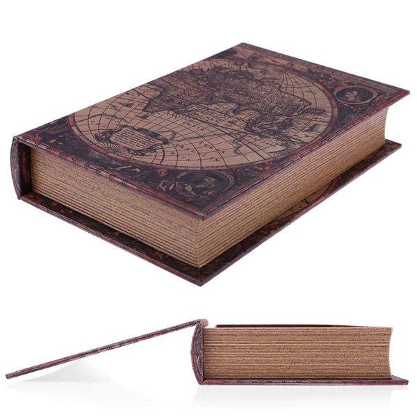 Wooden Storage Box Retro European Style Security Safe Book Cash Money Jewelery Organizer Box Caixa De Armazenamento