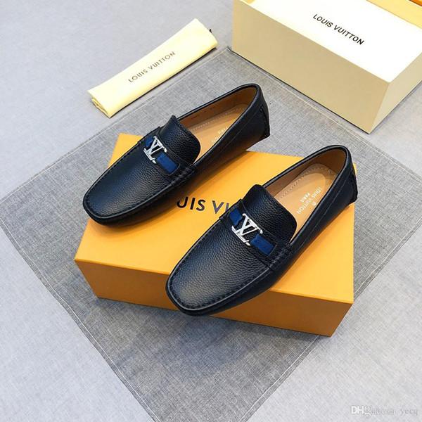 18ss Recién llegado italiano Top Mocasines de cuero para hombre Calzado de verano Transpirable Casual Transpirable Hombres Zapatos Planos Delocrd