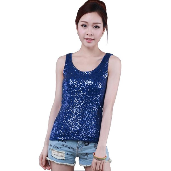 Spring And Summer New Women's Bottoming Shirt Korean Loose Large Size Sequined Vest Was Thin Sexy Lace Vest Y19042801