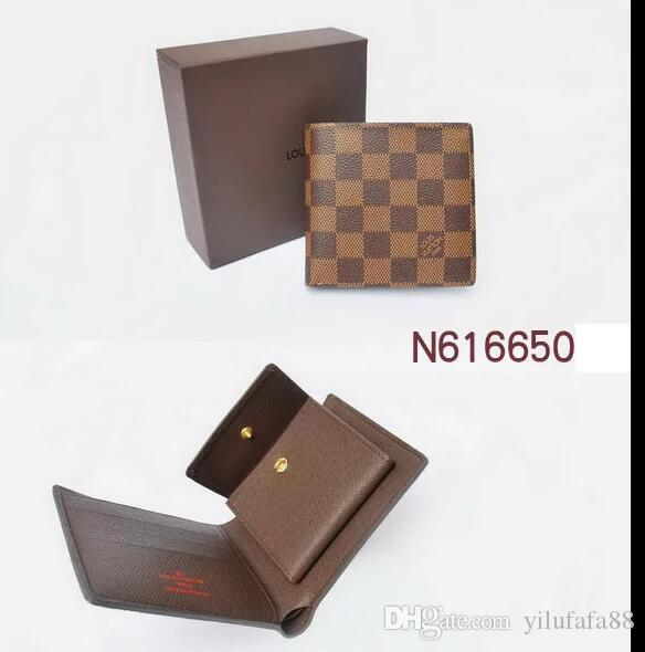 2019 European and American fashion classic men's and women's wallet men's British coin purse