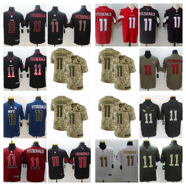 timeless design 0dc2e 1af6d 2019 Mens 11 Larry Fitzgerald Arizona Jersey Cardinals Football Jersey 100%  Stitched Embroidery Larry Fitzgerald Color Rush Football Shirts Groom ...