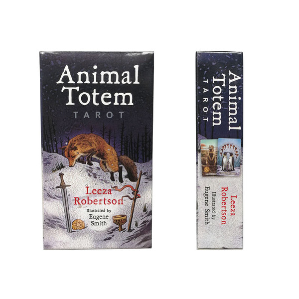 Animal Totem Tarot Cards Funny Board Game Tarot Deck Card Games 78 Pcs/set