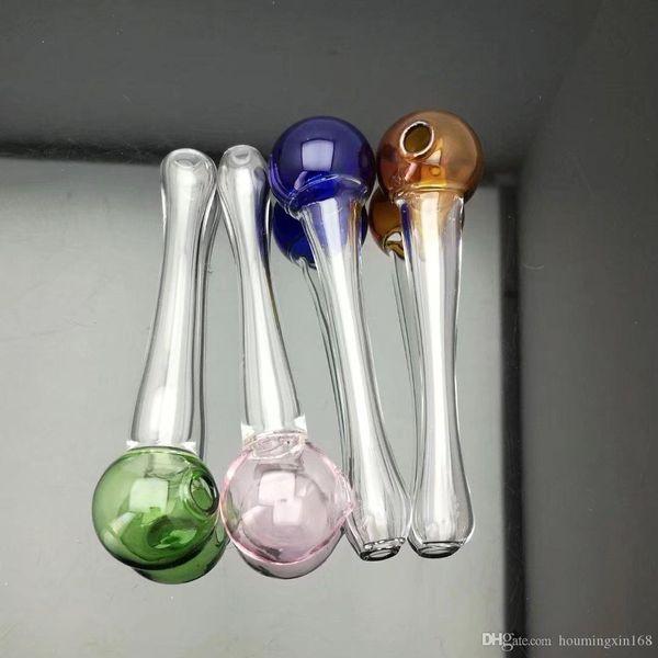 pipa de cristal bola redonda, bongs de vidrio al por mayor de la hornilla de aceite Tubos de agua Tubos de vidrio de tubos plataformas petroleras de fumadores, envío libre