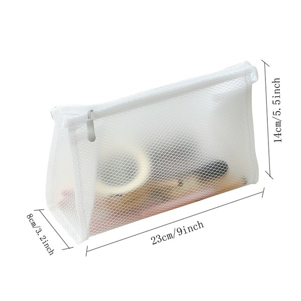 Clear Cosmetic Bag for Women Transparent Makeup Case Makeup Organizer Bags Toiletry Fashion Travel Kits Storage Pouch Bag VT0278