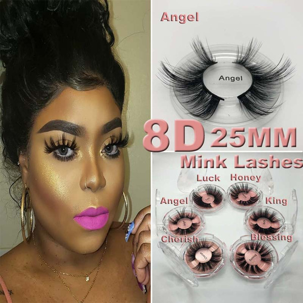 NOVA 5D Cílios Vison 25mm 3D Mink Cílios Cílios Postiços Grande Dramático Volumn Mink Cílios Maquiagem Lashes olho