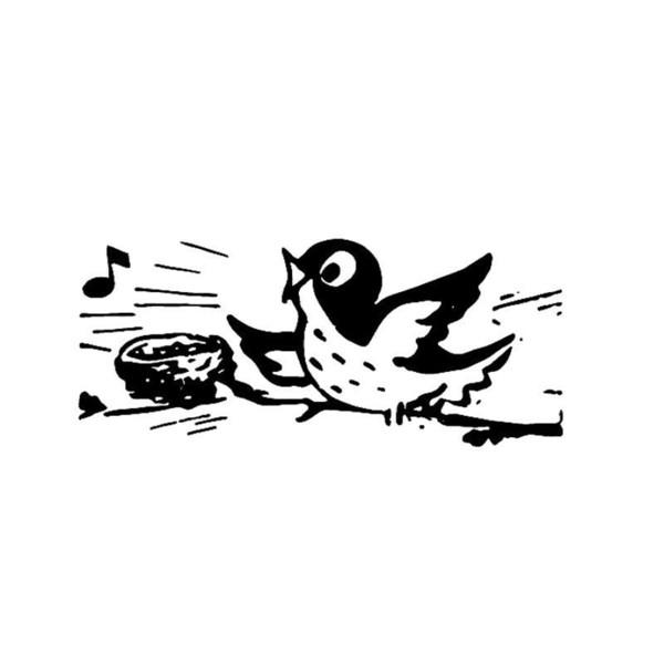 15 * 12см птица поет на дереве забавные наклейки личности прекрасный юмор стайлинга автомобилей виниловая наклейка