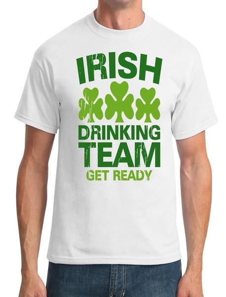 78f618c17b0b Irish Drinking Team Get Ready - Mens T-Shirt Quality T Shirts Men Printing Short  Sleeve O Neck Tshirt