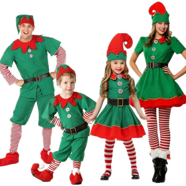 Christmas Outfit.Elf Mascot Costume Christmas Outfit With Hat Xmas Dressing Up Outfits Set Children S Green Elf Festival Costume Unisex For Xmas Part Rocky Horror