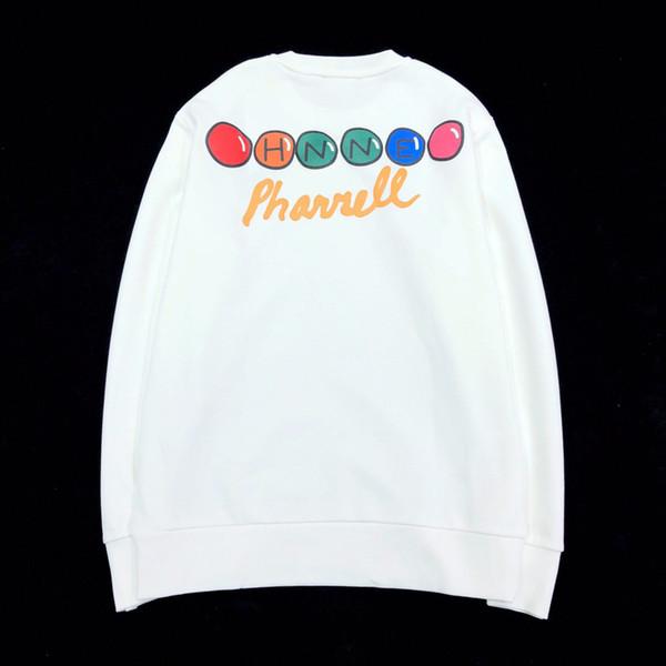 Fashion- Circular Pattern Letters Printing Pure Color Sweatshirt Black White Men Women Spring Autumn Street Pullover Long Sleeve HFHLWY030