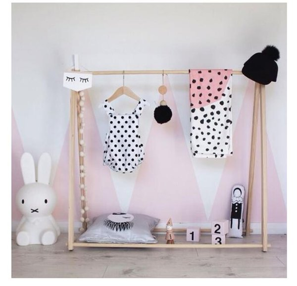 best selling INS Nordic Wind Simple Lichen Rack Children's room decoration Children's clothes store clothes rack display photographic props