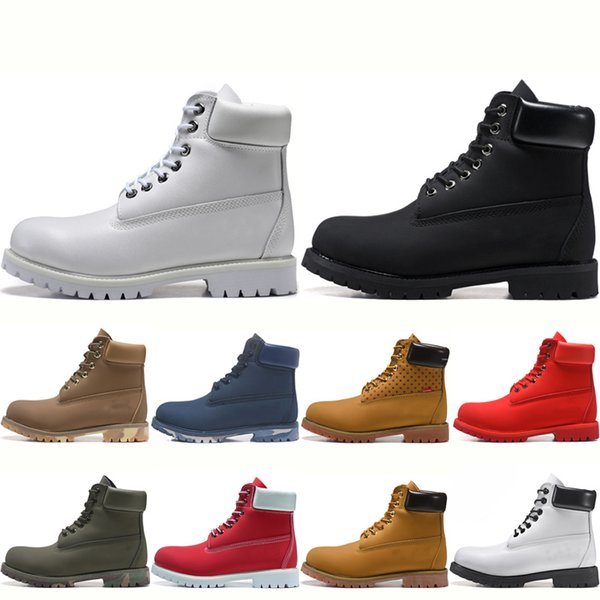 Acheter Timberland TBL Boots Mode Classique Hommes Femmes Blé Jaune Bottes Femmes Mens Triple Blanc Noir Rouge Bleu Travail En Plein Air Chaussures De