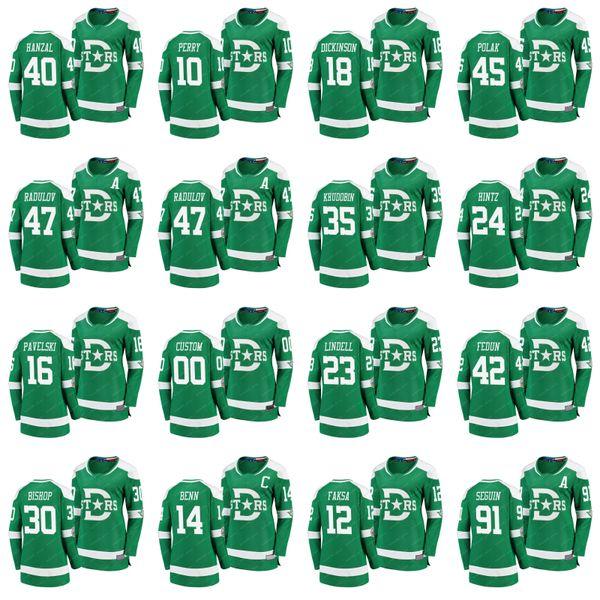 Frauen Dallas Stars 2020 Winter Classic Jersey 15 Blake Comeau 14 Jamie Benn 13 Mattias Janmark 12 Radek Faksa 11 Andrew Cogliano Hockey