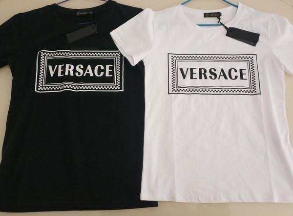 Luxo mens Designer t shirt mulheres de manga curta carta de Impressão gola Redonda Camisetas moda Medusa t camisas hip hop Tops Tees
