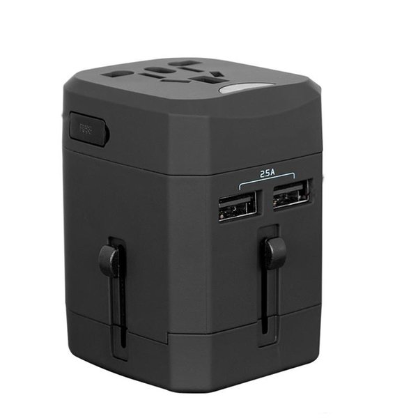Universal Travel Charger with US EU UK AU Plug 4 in 1 Dual USB Output Multi-Function Wall Charger for IPhones Samsung Mobile Phones Tablets