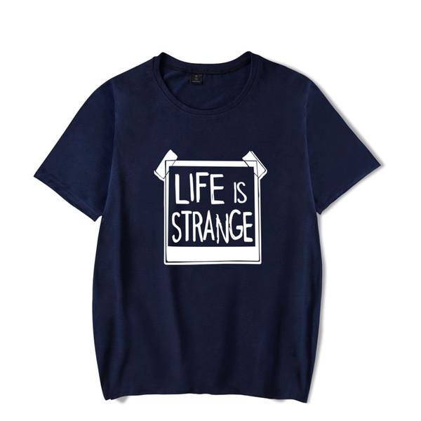La vie est étrange t-shirts imprimer été mode hommes femmes t-shirts sport casual tee shirt t-shirt à manches courtes tops plus la taille 4XL