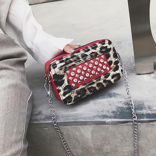 Women Famous Brand Fashion Small Handbags Mini Bag Crossbody Bag Leopard Print Women Pu Leather Messenger Bags Shoulder