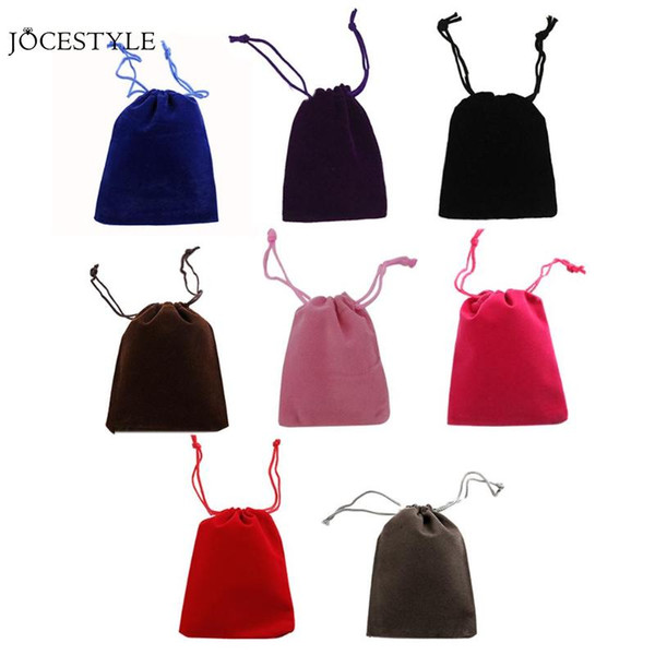 50pcs/lot 5x7cm Velvet Drawstring Jewelry Wrapping Pouches Gift Bags for Packaging Birthday Party Supply