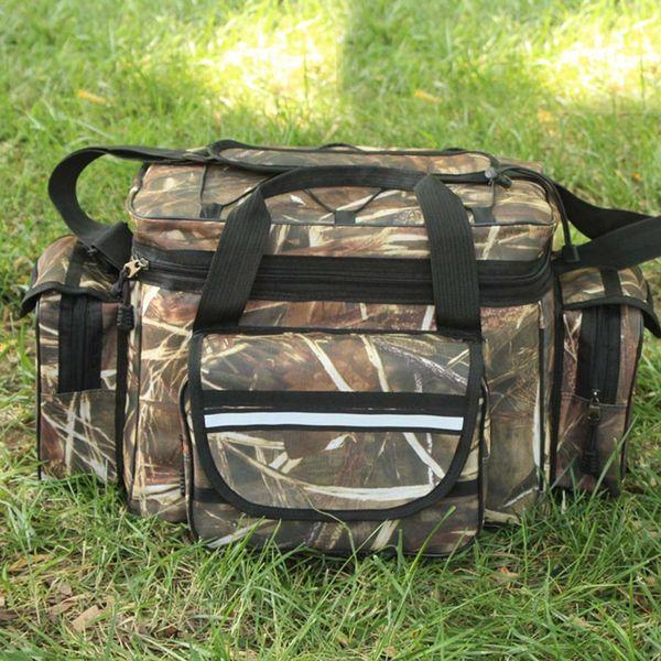 Waterproof Fishing Bag Large Capacity Multifunctional Lure Fishing Tackle Pack Outdoor Shoulder Bags 35*20*28cm #257823