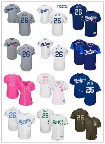watch a7d61 1671d 2018 2018 Top Los Angeles Dodgers Jerseys #26 Chase Utley Jerseys  Men#WOMEN#YOUTH#Men'S Baseball Jersey Majestic Stitched Professional  Sportswear From ...