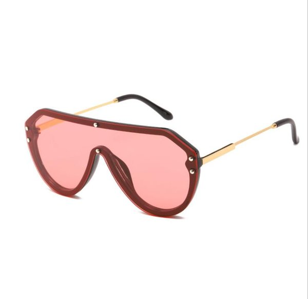 New fashion Sunglasses, European and American fashion, piece of sunglasses, net red, sunglasses, semi-metal free shipping hot sale