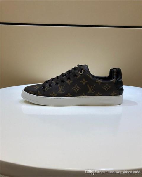 Zapatillas de deporte de cuero clásicas para hombres Zapatillas deportivas, zapatillas de deporte de gran tamaño Plataformas Planas para hombres de moda Tamaño 38-45