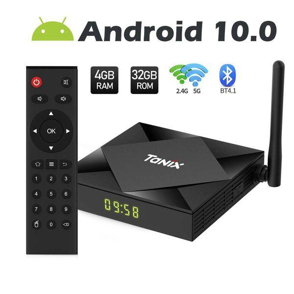 top popular Tanix TX6S Android 10.0 OTT TV Boxes 4GB+32GB 64GB Rom Allwinner H616 Dual WiFi 2.4G+5G With BT Smart TV Box 2020