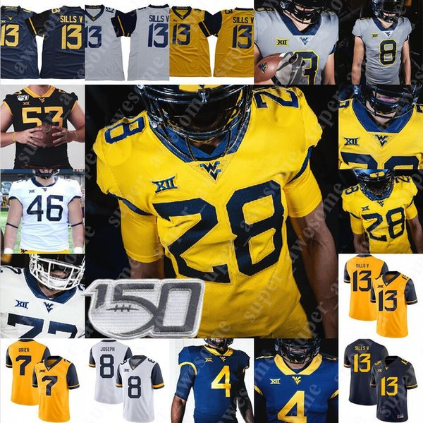West Virginia Mountaineers Jersey Stedman Bailey Marc Bulger Jeff Hostetler Owen Schmitt Grier Amos Zereoué Geno Smith Kevin Blanc