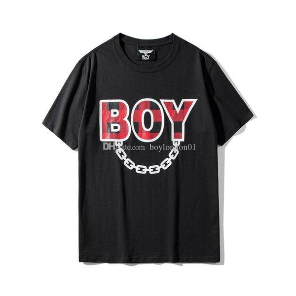 Boy London Mens Designer T Shirt Men Women High Quality Short Sleeves Fashion Designer Boy Luxury Hip Hop Tees Black Size S-3XL
