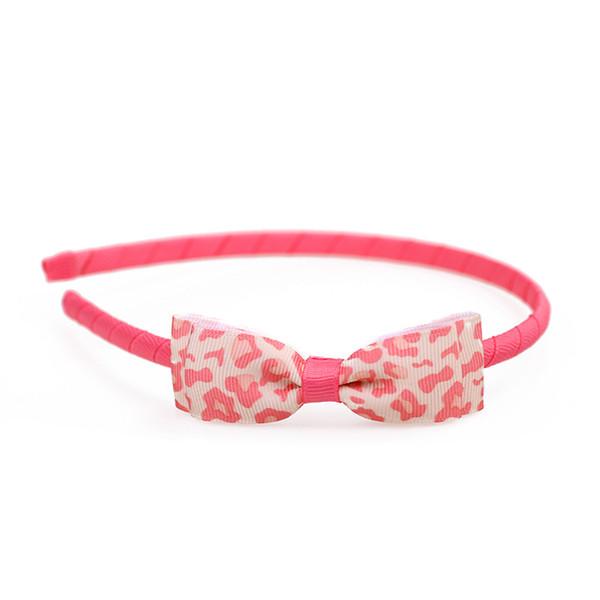 Boutique ins 10pcs Fashion Cute Leopard Print Ribbon Bow Hairbands Solid Bowknot Hair Sticks Princess Headwear Hair Accessories