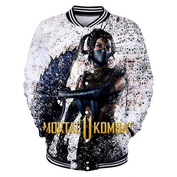 2019 Jacket Men New Fighting game Mortal Kombat 11 3D Print Coats Spring Fall Men/Women Baseball uniform Fashion Streetwear