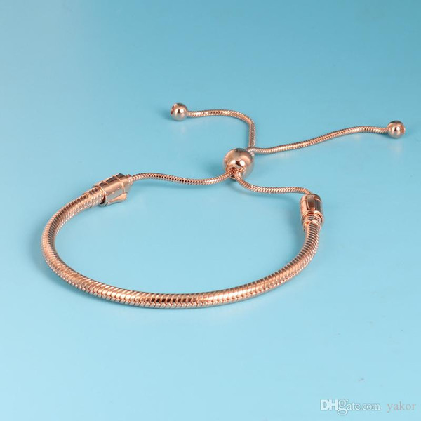 arrival 18K Rose Gold Moments Hand Chain BRACELET Set Original Box for Pandora 925 Sterling Silver Women Wedding Bracelets
