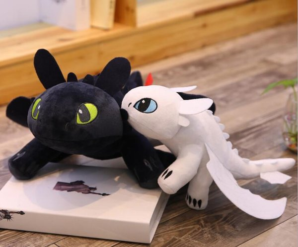35cm (14 inch) How to Train Your Dragon 3 Plush Toy Toothless Light Fury Soft Dragon Stuffed Animals Doll