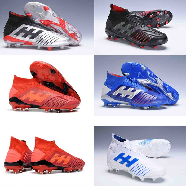 2019 Predator 19+ Predator 19.1 FG PP Paul Pogba Mens Women Kids Youth Soccer Football Shoes 19+dbzz Cleats Boots High Ankle Size 35-45