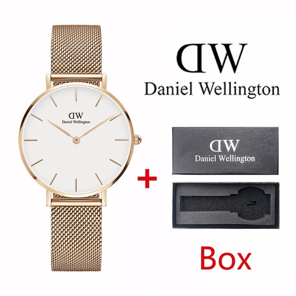 Top Brand Rose Gold Quartz Watch 40mm and 36mm 32mm Men's Japanese Quartz Watch Stainless Steel Mesh with Slim Clock with box