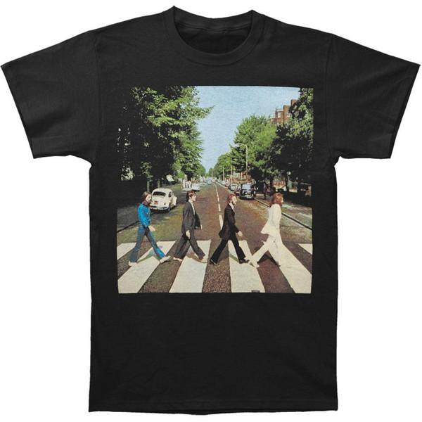 Beatles Abbey Road dos homens T-shirt Heather Cinza Adulto T-Shirt de Algodão Moda Camiseta Top Tees Estilo Chinês Verão Top Tee