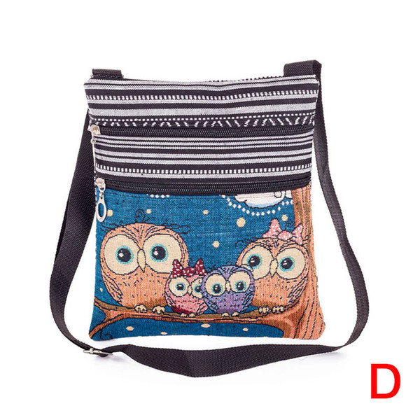 Cheap 2018 Fashion Women Lady Shoulder Bag Messenger Owl Embroidered Vintage For Mobile Phone Money WML99