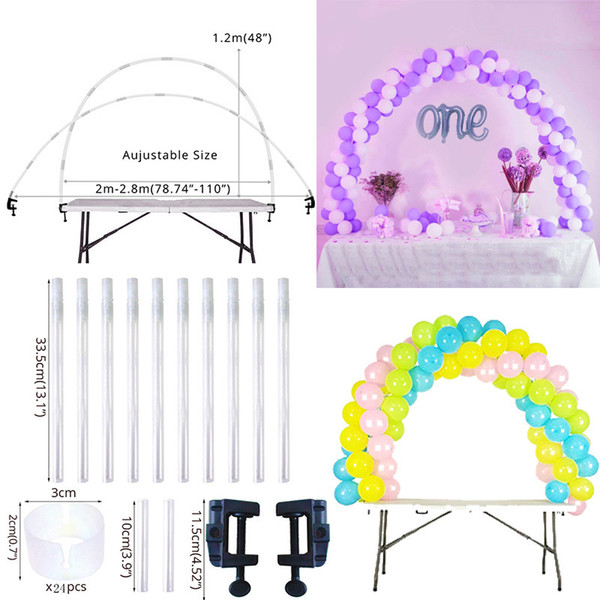 Cyuan 38pcs Balloon Arch Table Stand Birthday Party Balloons Accessories Clamps Wedding Decoration Table Ballons Arch Frame Kit Y19061502