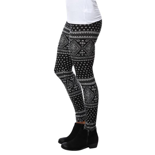 Leggings Frauen Skinny Geometric Print Laufen Slim Fitness Leggings Workout Sport Stretchy Hosen Jogginghose Hosen Kleidung