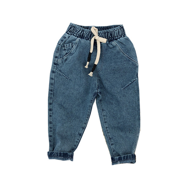 Fashion Simple Baby Girl Jeans 2019 Casual Autumn Spring Pants Kid Children Elastic Lantern Denim Jeans for Kids Girls Trousers Wholesale