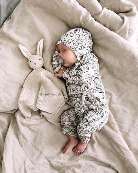 vente chaude bébé bébé garçon Stylistes bébé nouveau-né barboteuses barboteuse + chapeaux 2pcs vêtements bébé fille vêtements garçon nouveau-né A8192