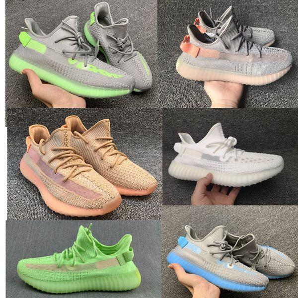 GID Glow Dans L'argile Sombre True Forme Hyperspace v2 Beluga 2.0 Chaussures De Course pour Hommes Femmes Baskets Sésame Kanye West Designer Chaussure