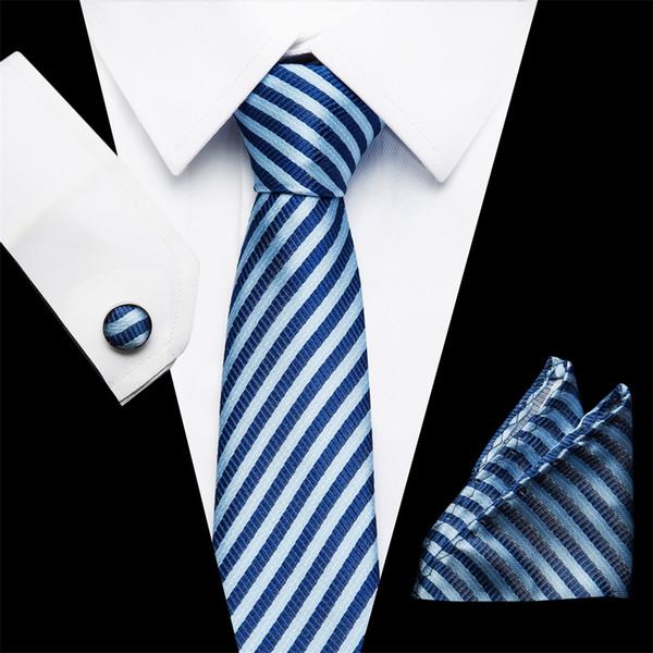Cadeaux pour Hommes Classique Homme Rayé à Rayures Soie Cravate Cravate Noir Jaune