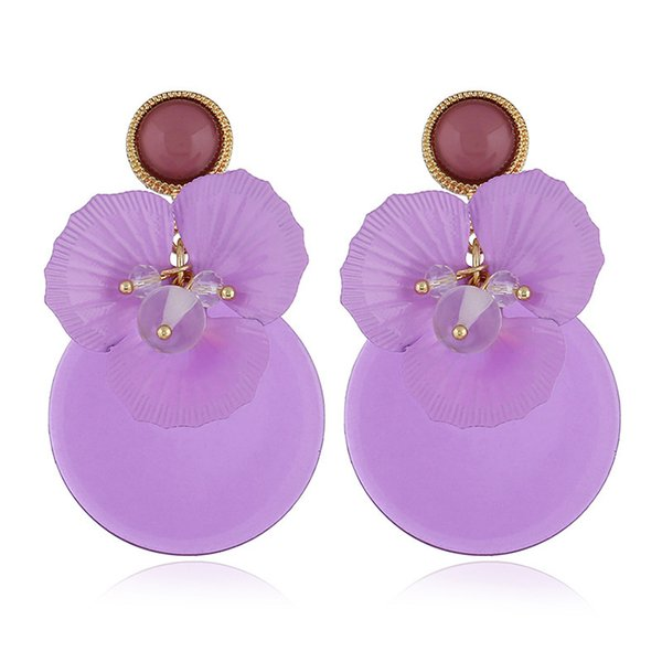 Online Retailers New Product Original Personality Earrings Violet Flower Earrings Female Small Ornaments Wishearring