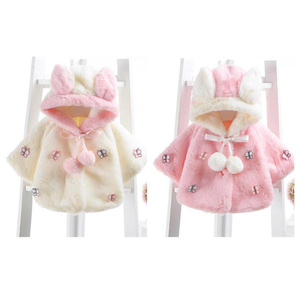 Nuevo bebé infantil niñas invierno de la piel caliente de la capa Capa de la chaqueta de la ropa gruesos calientes 812