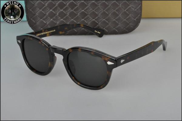 Wholesale Moscot Lemtosh Retro Small Oval Sunglasses Women Female Vintage Hip Hop Balck Glasses Retro Sunglass Men Male Man Brand Eyewear