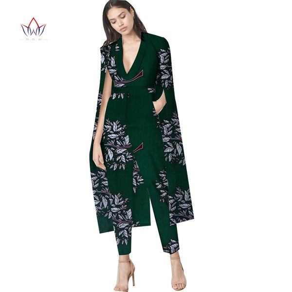 2019 african traditional clothing for women Top And Pants Set african women clothing Print Dashiki cotton Set two pieces WY3909