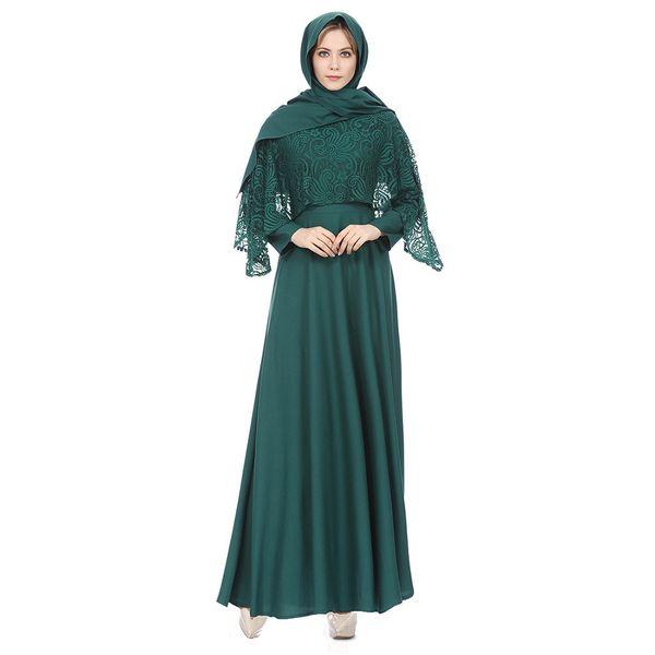 Lace abaya kimono Lady Large Size Clothing National Wind Robes abaya femme long Skirt Dress kaftan for women#G9+1