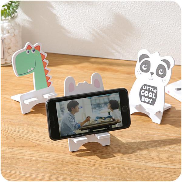 Cep Telefonu Mounts Yaratıcı Sevimli Karikatür Cep Telefonu Tablet Standı Cep Telefonu Tabanı Canlı Izlerken TV Düz Braketi